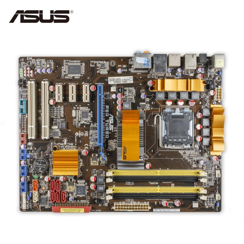 Original Used Asus P5Q Turbo Desktop Motherboard P45 Socket LGA 775 DDR2 16G SATA2 USB2.0 ATX 100% Fully Test original used asus p5kpl desktop motherboard g31 socket lga 775 ddr2 sata2 atx 100% fully test