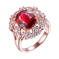 Fantastic Natural Tourmaline Gemstone Ring Diamonds 18K Rose Gold Engagement Party Ring Oval 10x12mm For Women Promise Gift