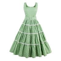 1950s Vintage Women Dress Green Pin Up Sexy Halter Party Style Dresses Elegant Female Retro Dresses