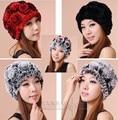 Оптовая цена новый дизайн леди стильный российской шапочка шляпы теплый рекс кролика русский hat caps бесплатная доставка
