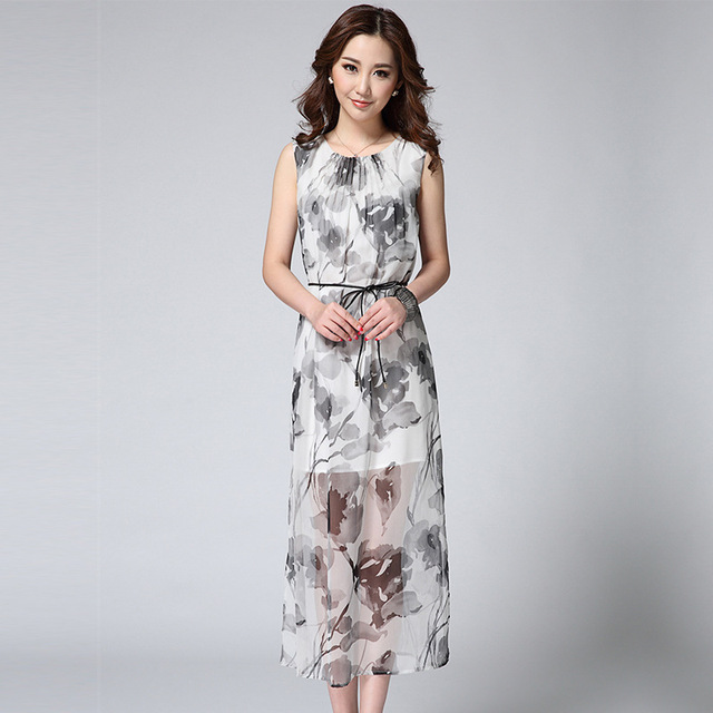 2015 Brief Plus Size Summer Style Maxi Dress New Europe Design ...