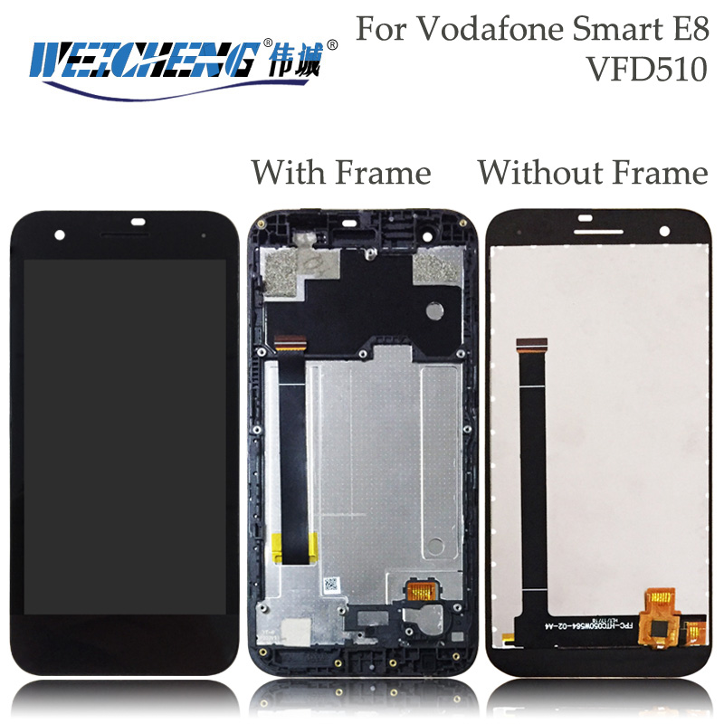 For Vodafone Smart E8 VFD510 VFD 510 VF510 LCD Display+Touch Screen Assembly With Frame for VFD510 Lcd display+free tools Mobile Phone LCD Screens     - title=