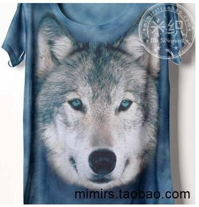 Wolf Legend print Children's clothes baby short sleeve T shirt printing cartoon boy and girl t shirts