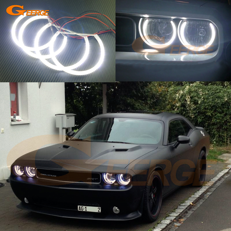 For Dodge Challenger 2008 2009 2010 2011 2012 2013 2014 Excellent Ultra bright illumination smd led Angel Eyes Halo Ring kit