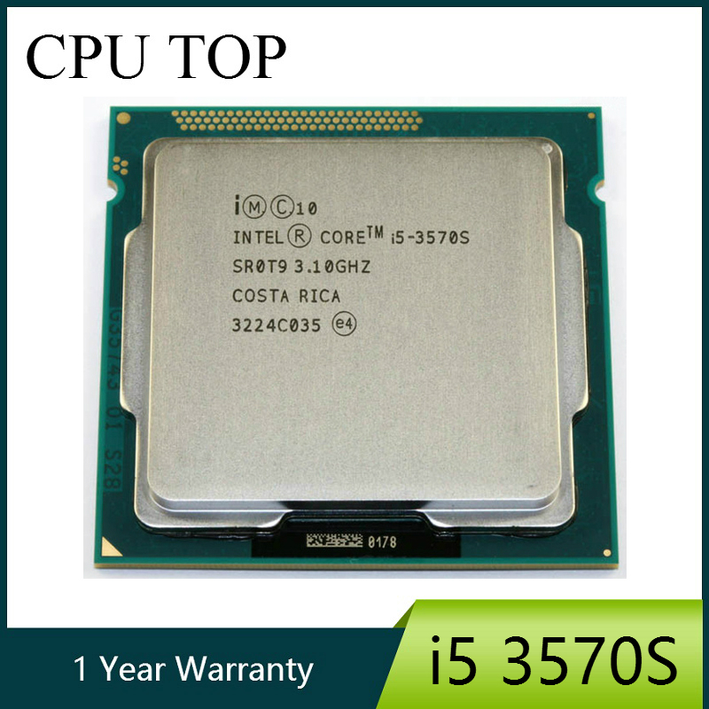 Intel Core i5 3570S Processor Quad Core 3.1GHz L3=6M 65W Socket LGA 1155 Desktop CPU working 100%-in CPUs from Computer & Office    1