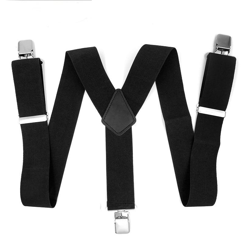 Man's Suspenders Unisex Fashion Braces Plain Color Adjustable Suspenders Strong 3Clasp Casual Suspenders 5*120cm