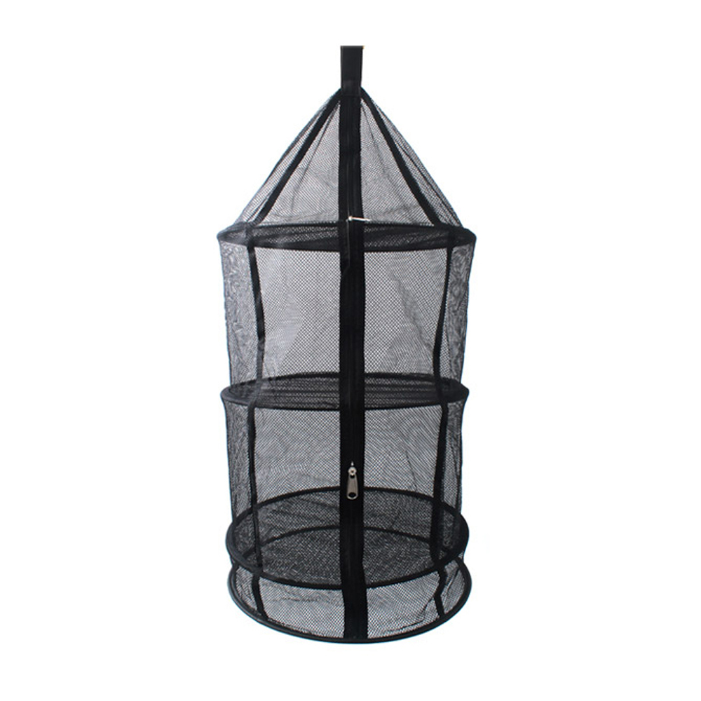 4 Layers Drying Rack Folding Wire Mesh Hanging Net Basket Tableware ...