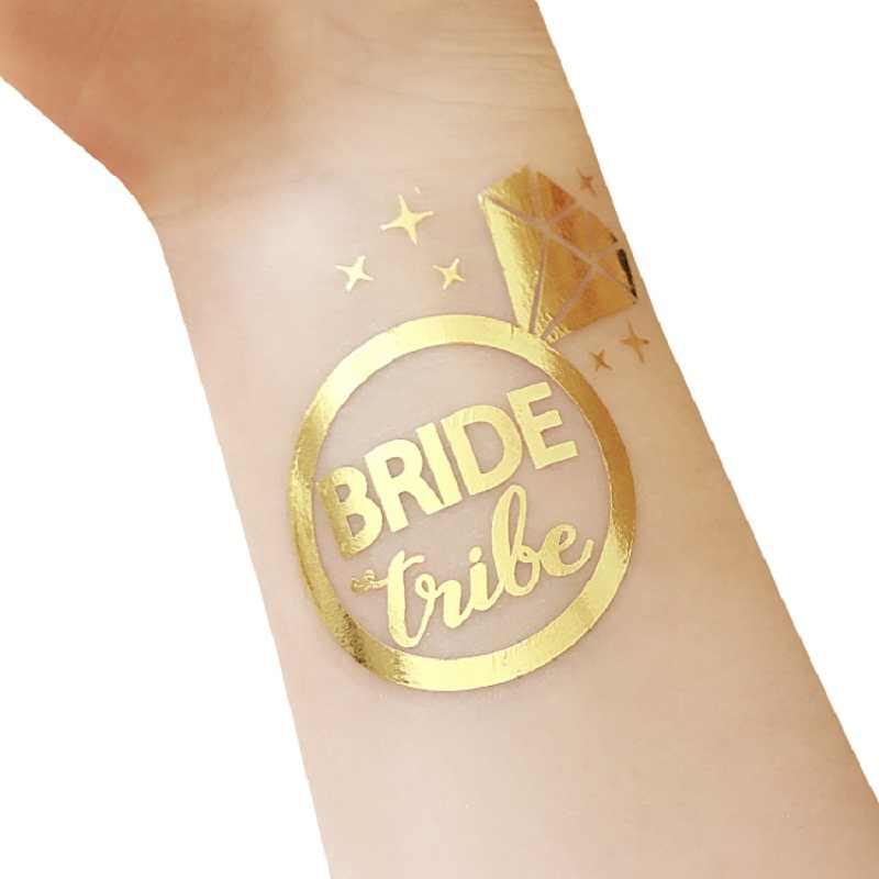 Временные тату наклейки Золотая команда девичник вечерние невесты быть свадебный душ девичник Вечеринка предложение Свадьба diy украшения