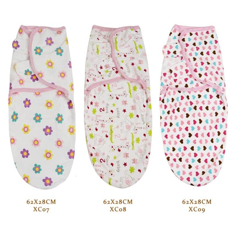 62*28CM Newborn Baby Wrap Blanket Swaddle Cotton Soft Infant Products Baby Swaddling Sleepsack Multi-Colors Newest