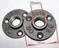 12 PÇS/LOTE Flange de Ferro Fundido Base de DIY Industrial Tubos De Móveis Pernas Pés Peças (-DN20-3/4''Pipe) Loft Estilo Industrial