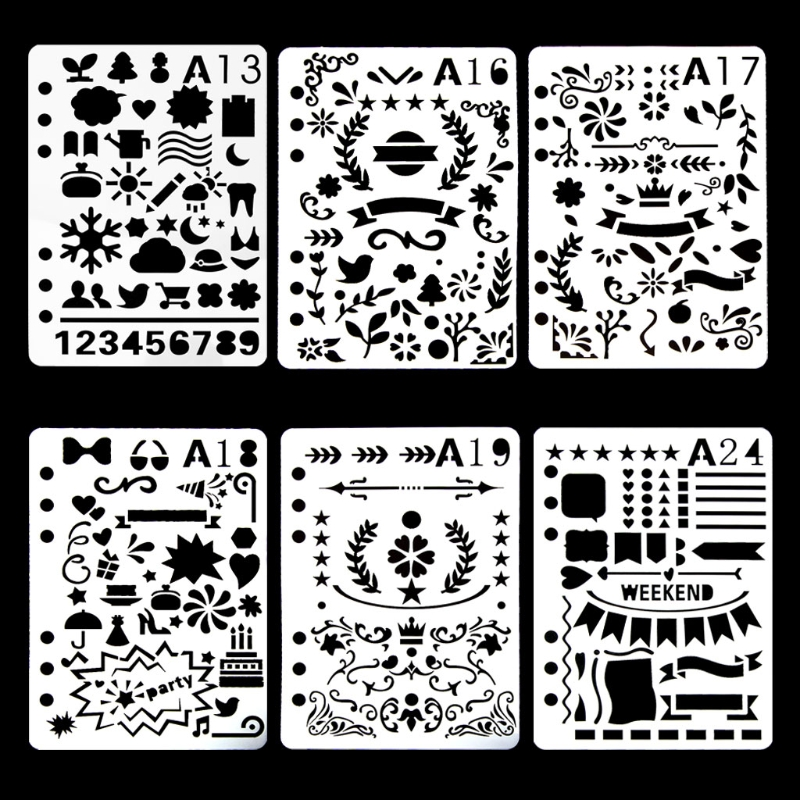 Bullet Journal Stencil Plastic Planner DIY Craft Drawing Template Diary Decor