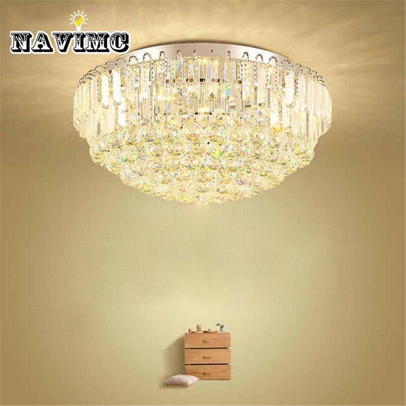 Modern LED Crystal Ceiling Lights Remote Control Mushroom Ceiling Lamp for Living Room Bedroom Dining Room Kitchen Decor