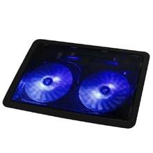 Ловкий 2016 Новый USB 2 Порт Вентилятор Охлаждения Cooler Pad Для Ноутбуков Ноутбук Со СВЕТОДИОДНОЙ Подсветкой May30U