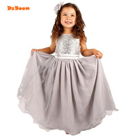 DzBoom Princess Girls Dresses Children Summer Wedding Birthday Party Wear Costume Kid Girl Evening Dress With