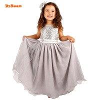 DzBoom Princess Girls Dresses Children Summer Wedding Birthday Party Wear Costume Kid Girl Evening Dress With