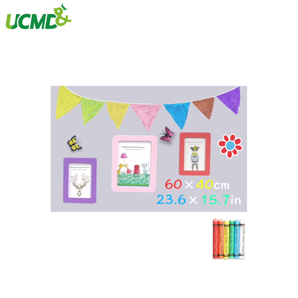 Chalk Board Blackboard Sticker Removable Drawing Writing Message Board Hold Magnets Kids Room Office Wall Decor Toy Gift 60X40CM