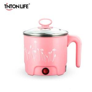 Image 1 - Tinton生活多機能電気フライパンステンレス鋼鍋麺炊飯器蒸し卵スープポットミニ加熱皿