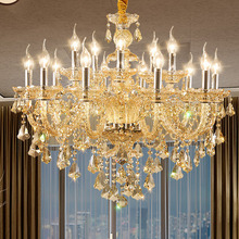 Modern glass chandelier lighting living room luxury candle light crystal European style bedroom dining chandelie