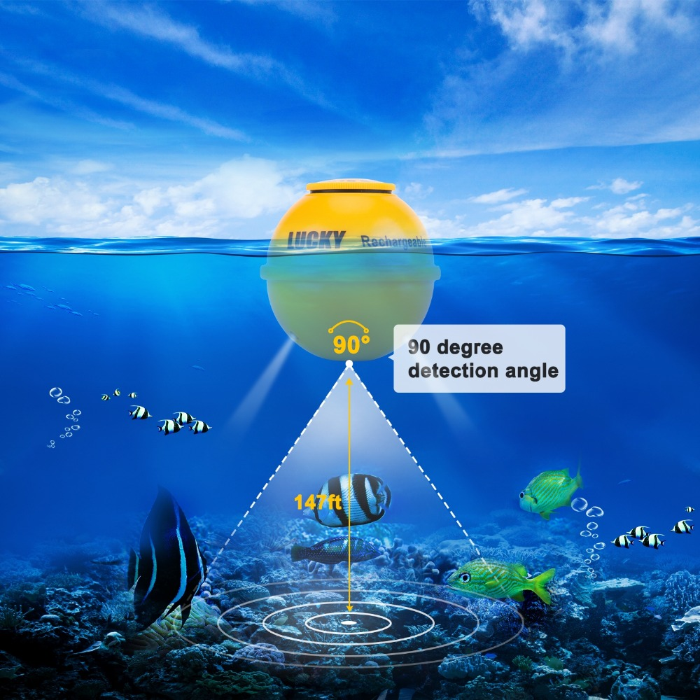 FF1108-1CWLA Rechargeable Findfish Wireless Remote Sonar Sensor 45M Water Depth High Definition LCD FishFinder Fish Finder Pesca (13)