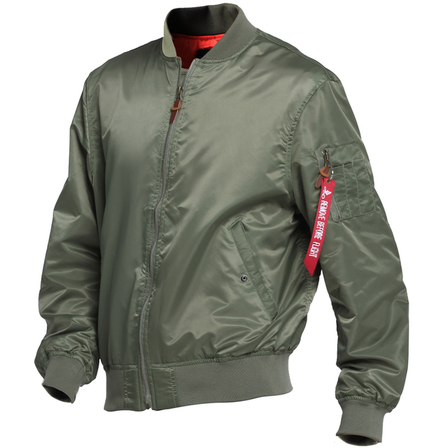bb049aad9ff 2018 Waterproof US Air force Military Army Green MA-1 Flight Bomber Jacket  Varsity Pilot Lady Plus Size windbreaker red Women