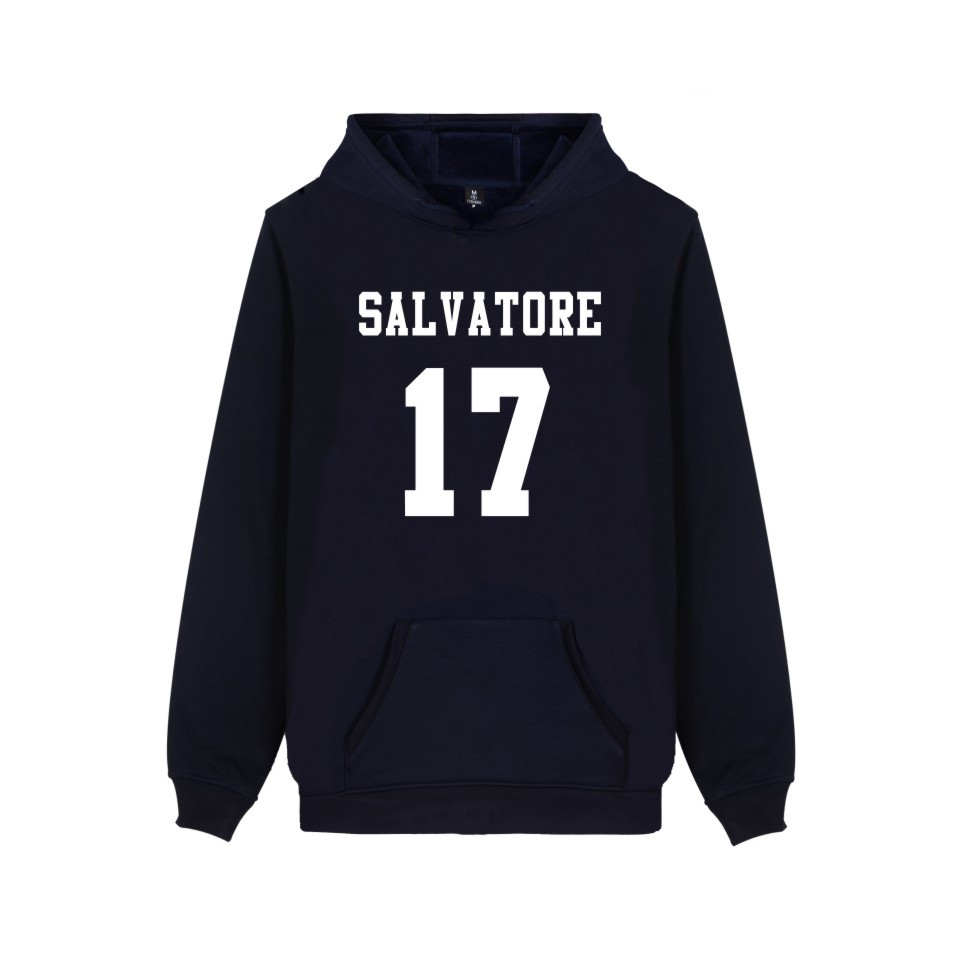 Salvatore 17 Vampire Diaries Mystic Falls Timberwolves Hoody Sweatshirts Print Salvatore 17 Mens Popular Clothing Casual Clothes