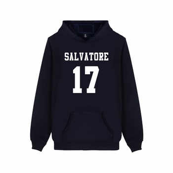 Salvatore 17 Vampire Diaries Mystic Falls Timberwolves Hoody Sweatshirts Print Salvatore 17 Mens Popular Clothing Casual Clothes - DISCOUNT ITEM  40% OFF All Category