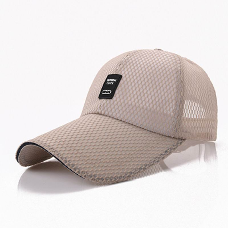 OEM Mesh Baseball Cap Mesh Breathable Male Female  Baseball Hat Breathable Quick Dry Net Cap Light Quality Summer Hats