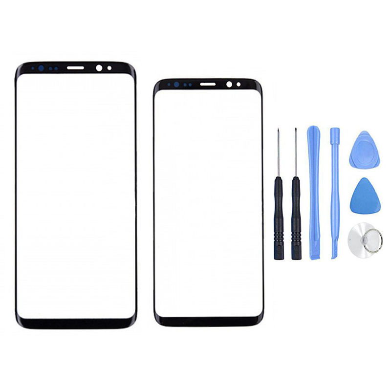 LCD Outer Glass Panel For Samsung Galaxy S8 G950/S8 Plus G955 Front Screen Outer Glass Lens Replacement + Free Repair Tools