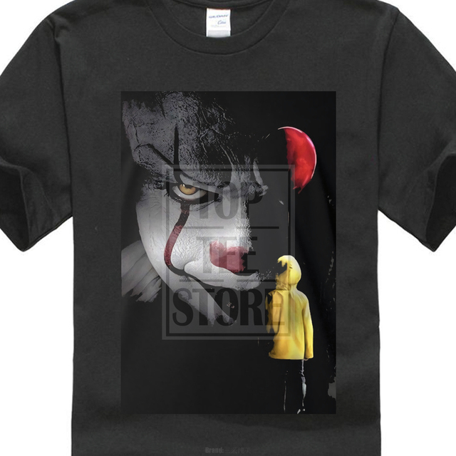 New Pennywise T Shirt Stephen King It Ballon Clown 2017 Movie Inspired