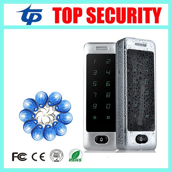 Good quality full IP65 waterproof RFID card access control system 125KHZ weigand card reader door access controller good quality smart rfid card door access control reader touch waterproof keypad 125khz id card single door access controller