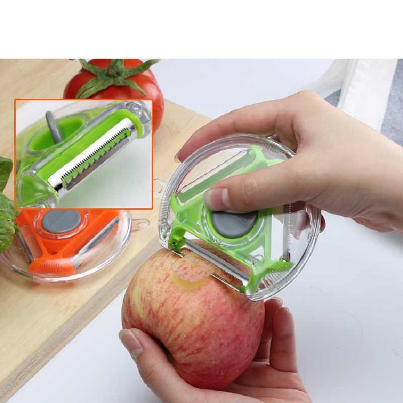 3 в 1 вращающийся многофункциональный очиститель для фруктов и овощей из нержавеющей стали шредер зестеры Терка резак кухонные инструменты аксессуары