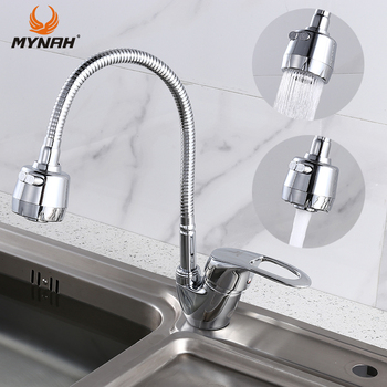 MYNAH Russia free shipping Kitchen Faucet mixer crane Any Direction Sink Tap Hot and Cold Water - discount item  52% OFF Kitchen Fixture
