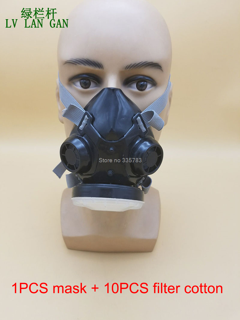 high quality respirator dust mask Spiral filter cotton Sold separately dust smoke PM2.5 Particles respirator mask