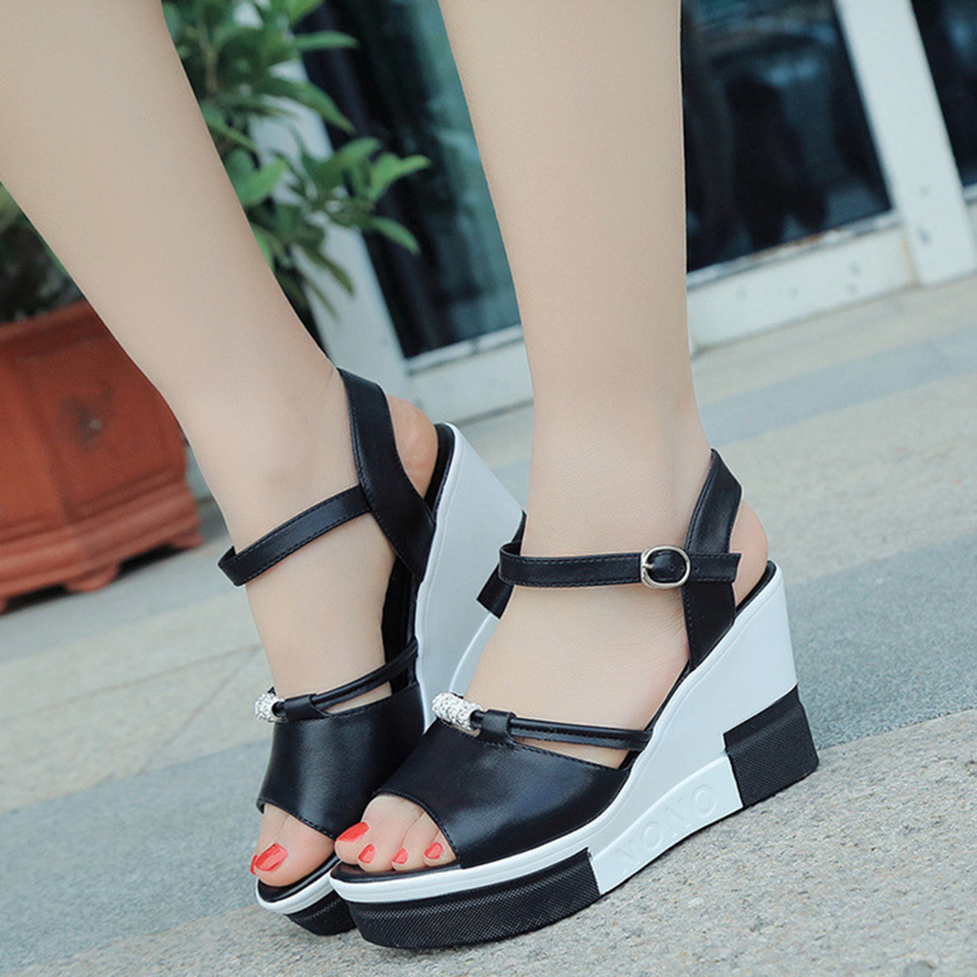 Summer shoes woman Platform Sandals Women Soft Leather Casual Open Toe Gladiator wedges Women Shoes zapatos mujer 2017 gladiator summer shoes woman platform sandals women flats soft leather casual open toe wedges sandals women shoes r18