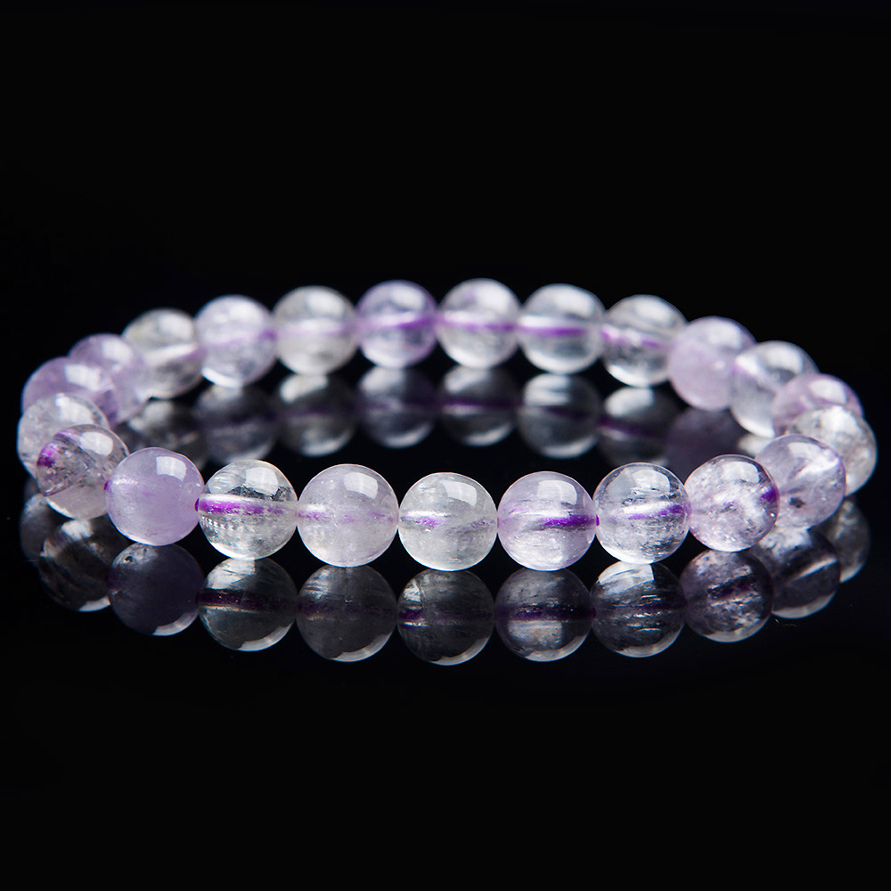 8mm Genuine Natural Purple Kunzite Gems Crystal Quartz Round Stretch Charm Bead Bracelet For Women Free Shipping