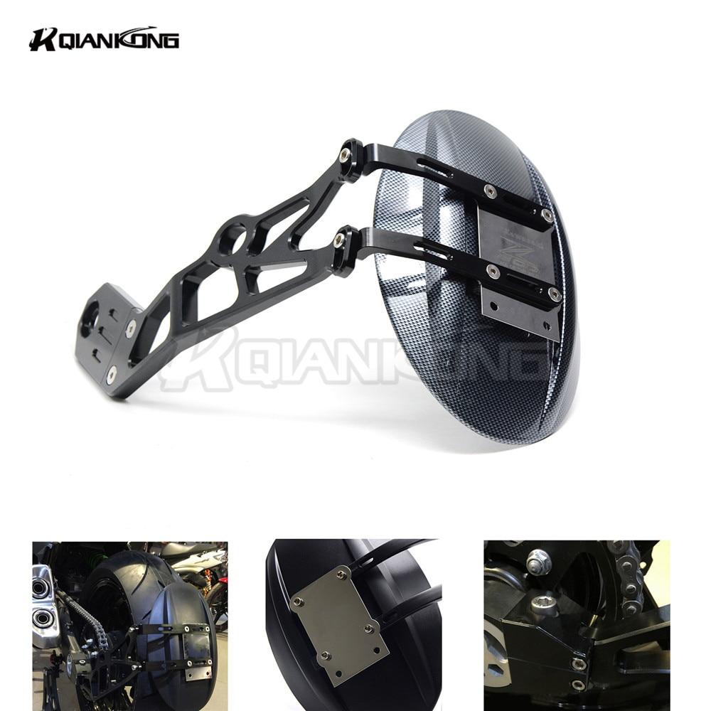 R QIANKONG Black/Snakeskin Motor rear fender bracket moto mudguard For KAWASAKI Z1000 Z1000SX 2010-2015 2016 Z800 2013-2016 2017