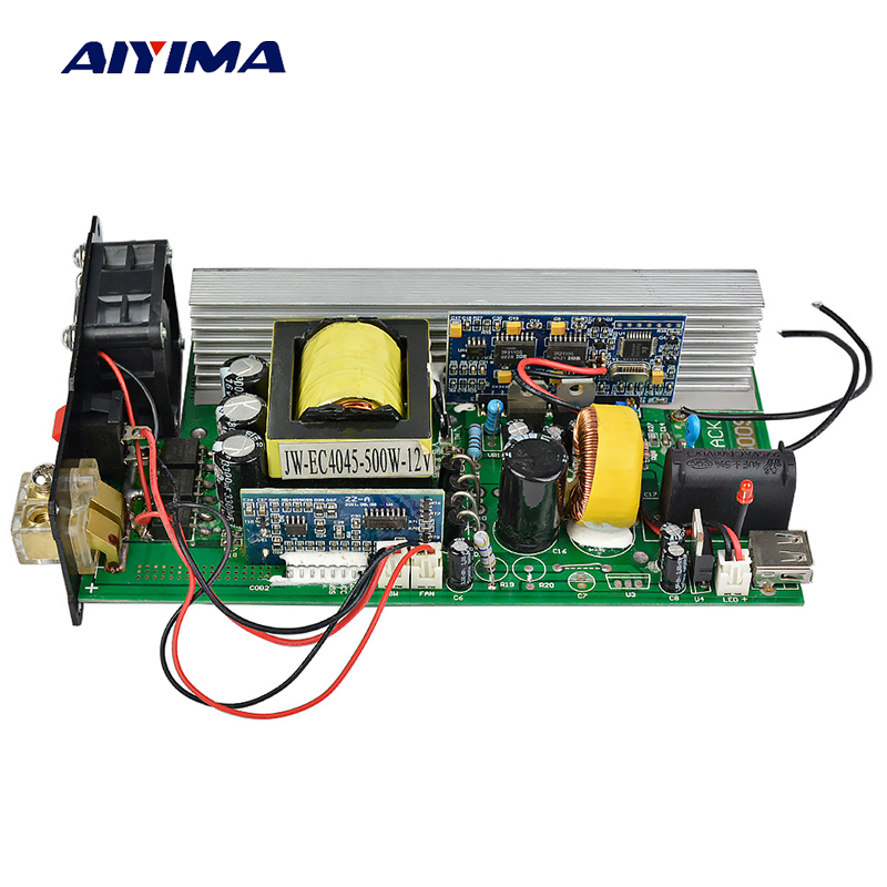 Aiyima Bordo Puro Inverter A Onda Sinusoidale 500 w DC12V Per AC220V Picco 1000 w Boost Modulo DC-AC