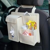 Araç Organizatör Geri Koltuk Çok Cep Araba Organizatörleri Saklama Kutusu bebek Çocuk Araba Koltuğu Araba Koltuğu Için Çanta Asma tissuue kapakları