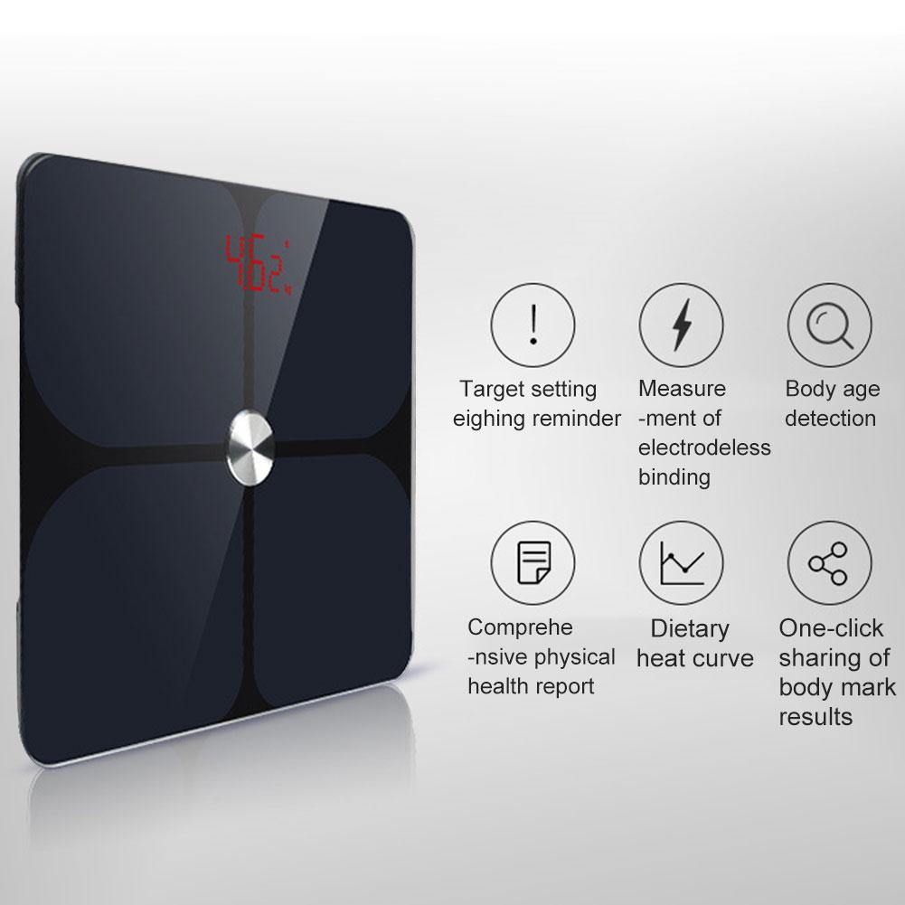 Para ITO recubierto inteligente Bluetooth báscula de grasa báscula Digital de baño composición corporal analizador BMI Monitor de salud para la aplicación Fitbit-in Básculas de baño from Hogar y Mascotas on AliExpress - 11.11_Double 11_Singles' Day 1