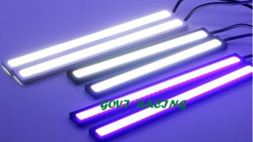 2 db 17 cm-es LED COB DRL autó Nappali menetjelző fény vízálló - Autó világítás - Fénykép 6