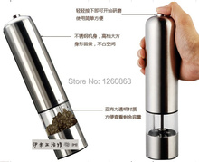 Portable Stainless Steel Thumb Push Salt Pepper Grinder Spice Sauce Mill Grind Stick Kitchen tool Electric Cooking tools