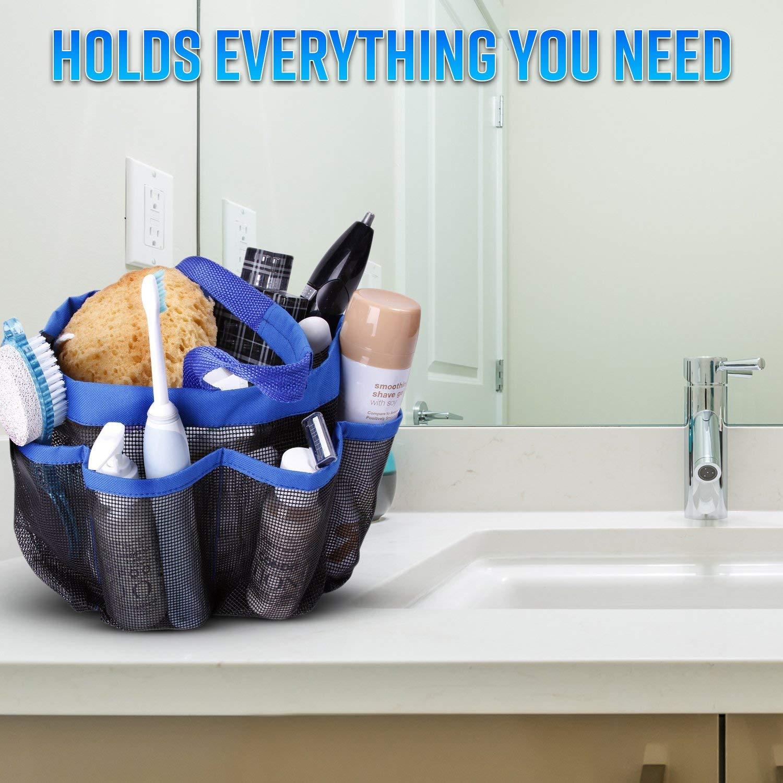 Dcos mesh shower caddy portable tote college dorm room essentials