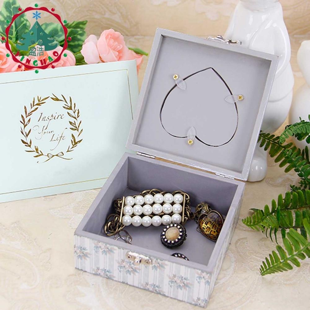inhysa 1 st Chic Hantverk Smycken Square Shape Box Förvaring DIY - Heminredning - Foto 5