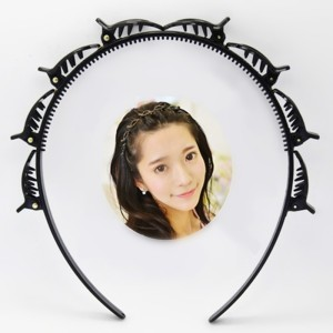 Black Braider Hair Clip Burst Pin Hairdo Bring Hair Hoop Multi-storey Wisp Air Weave Head Hoop Styling Tool(China)