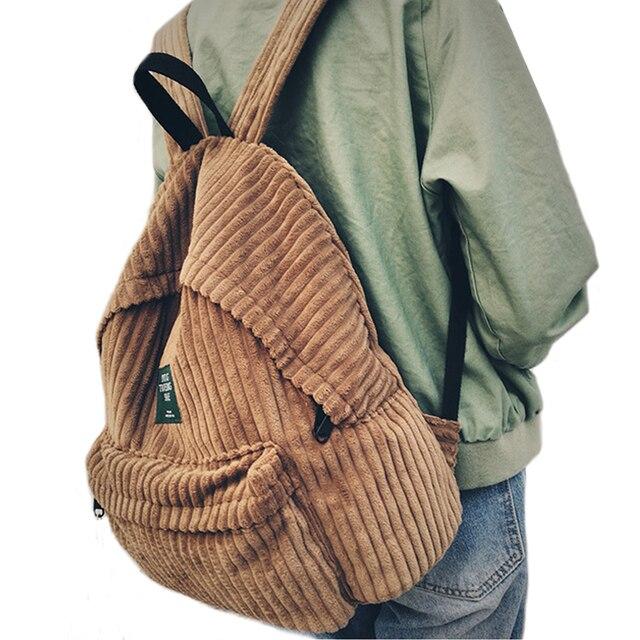 74dd78777604 Рюкзак школьный женский Школьный рюкзак сумки вельветовый рюкзак рюкзаки  подростковые для девочек женственный рюкзак 440