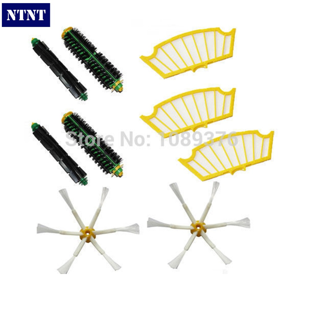 NTNT Free Post New Side Brush Filters 6 Armed pack for iRobot Roomba 500 Series 530 550 560 580 510 ntnt free post new 50x side brush 3 armed for irobot roomba 500 600 700 series 550 560 630 650 760