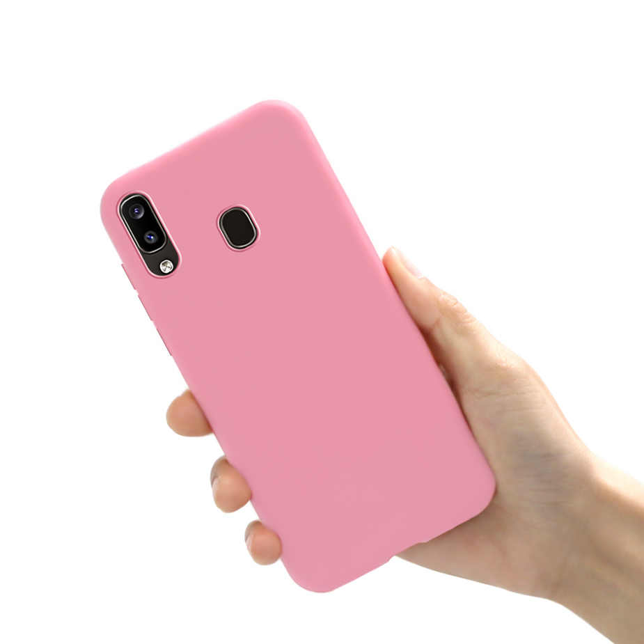 Soft Silicone Phone Case For Samsung Galaxy A10 A20 A30 A40 A50 A60 A70 A20e Candy Color Back Cover For A 10 20 30 40 50 60 70 E