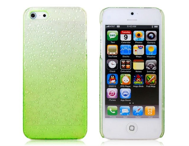 Free shipping new 2014 high quality Fashion Rain Drop Pattern Protective Cases for iPhone 5s