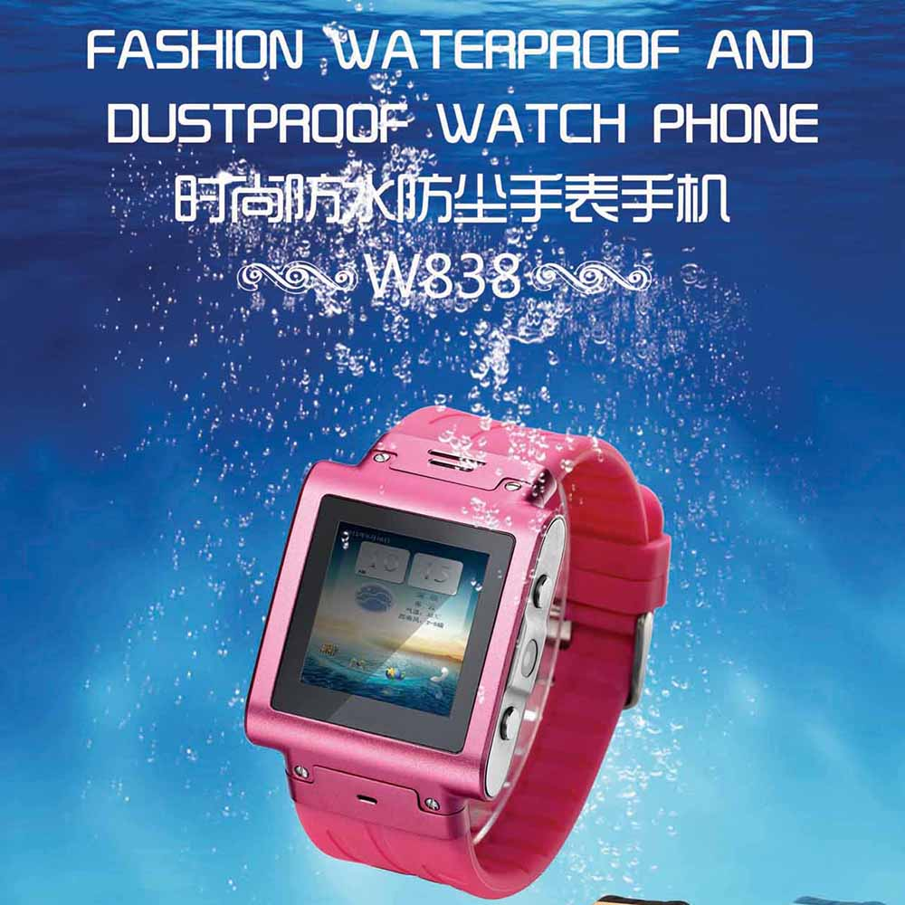 2017 Lastest Unlock GSM Watch IP67 Waterproof SKW838 Smart Watch Phone Support SIM Card JAVA Bluetooth
