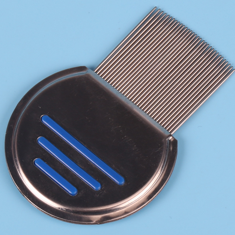 New Lice Combs Treatment Professional Stainless Steel Louse Nit Free Comb for Head Treatment Removes Head Lice Nits Eggs Easily